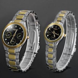 copias de relojes de pulsera de esfera grande con correa inox